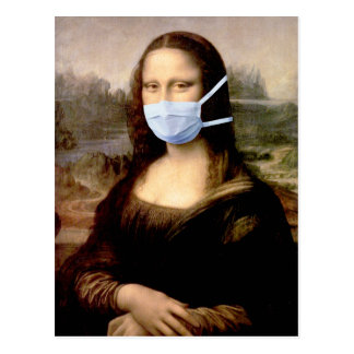 Mona Lisa con la máscara Postal