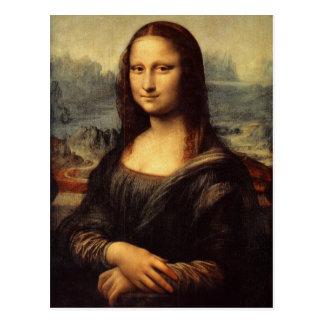 Mona Lisa de Leonardo da Vinci Tarjeta Postal