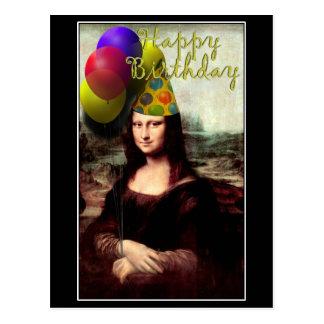 Mona Lisa - el chica del cumpleaños Postal