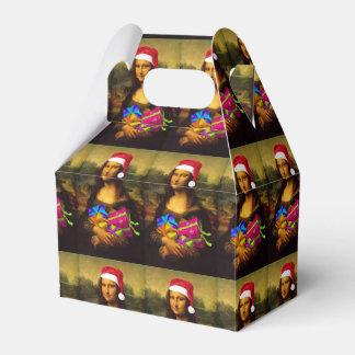 Mona Lisa en el navidad Paquetes De Regalo Para Bodas