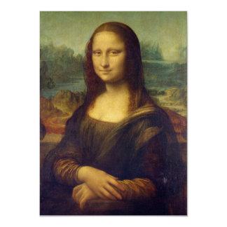 Mona Lisa - Leonardo da Vinci Invitación 11,4 X 15,8 Cm