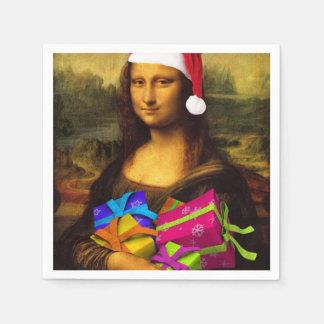 Mona Lisa Papá Noel Servilletas Desechables