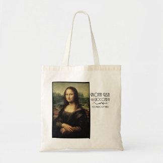 Mona Lisa por daVinci Bolsa Tela Barata