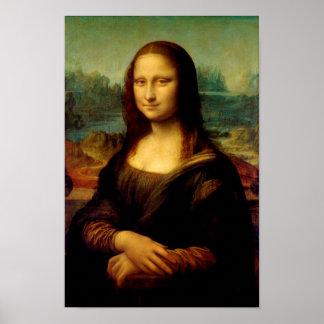 Mona Lisa - por Leonardo da Vinci Póster