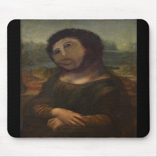 Mona Lisa restaurada Alfombrillas De Ratones