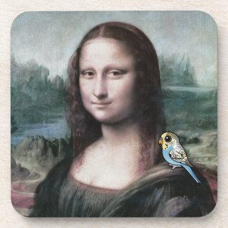 Mona Lisa y Budgies Posavasos Para Bebidas