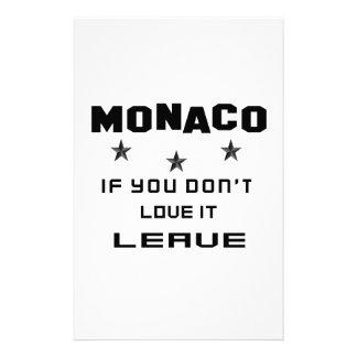 Mónaco si usted no lo ama, se va papelería de diseño