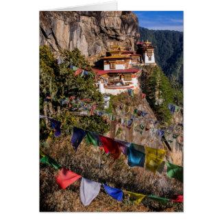 Monasterio de la jerarquía del tigre, Bhután Tarjeta