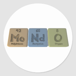 Mondo-Mo-Nd-O-Molybdenum-Neodymium-Oxygen.png Pegatina Redonda