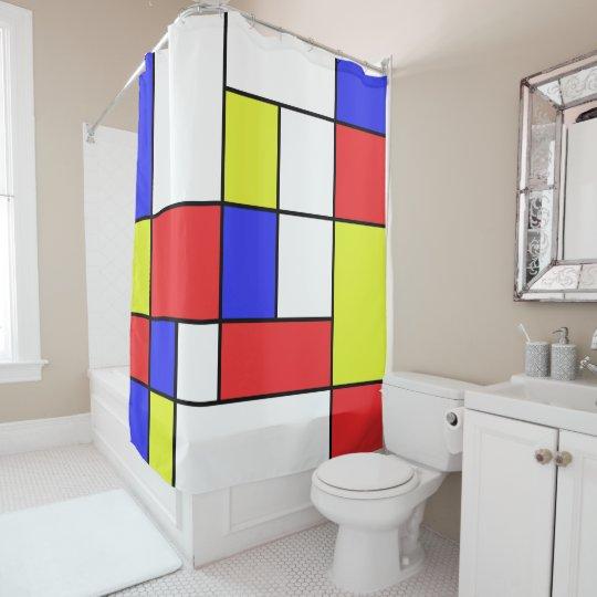 Mondrian #24 cortina de baño