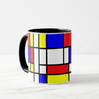 Mondrian - composición II - taza del arte