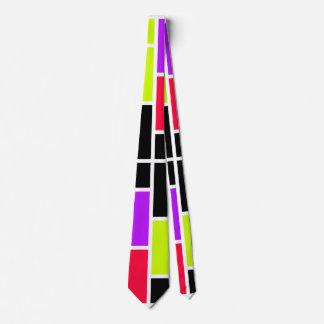 Mondrian de neón corbata personalizada
