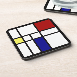 Mondrian inspiró diseño posavasos