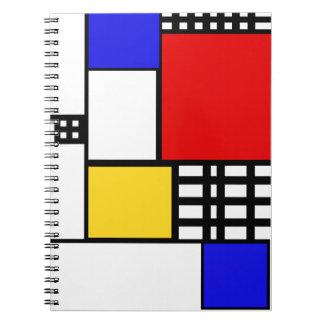 Mondrian inspiró el cuaderno