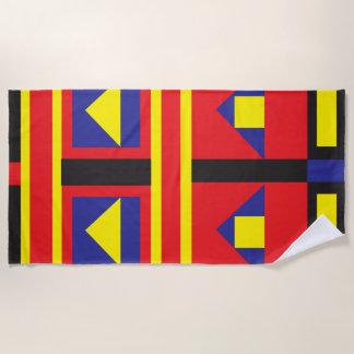 Mondrian inspiró la toalla de playa brillante