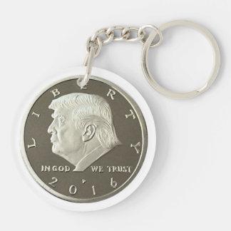 Moneda doble de Eagle del triunfo Llavero