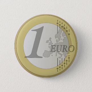 Moneda euro chapa redonda de 5 cm