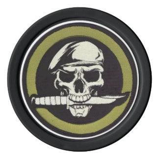 Moneda verde del desafío de los muchachos juego de fichas de póquer