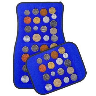monedas extranjeras del lotsa alfombrilla para coche