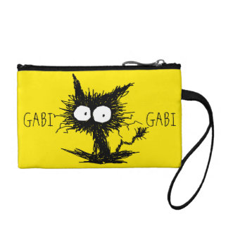 Monedero Amarillo desalinado negro de GabiGabi del gatito