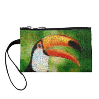 Monedero Arte del collage-toucan de Toucan - arte del