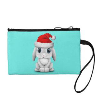 Monedero Conejito blanco del bebé que lleva un gorra de