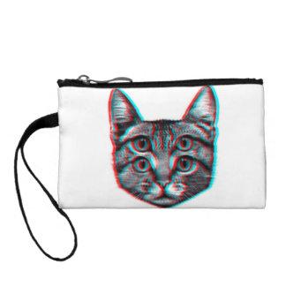 Monedero Gato 3d, 3d gato, gato blanco y negro