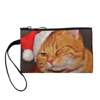 Monedero Gato anaranjado - gato de Papá Noel - Felices