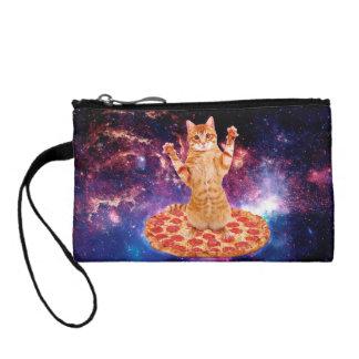 Monedero gato de la pizza - gato anaranjado - espacie el