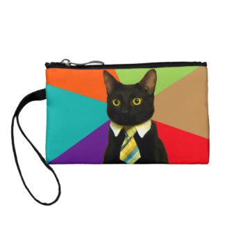 Monedero gato del negocio - gato negro