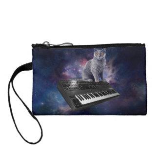 Monedero gato del teclado - música del gato - espacie el