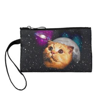 Monedero luna del gato, gato y luna, catmoon, gato de la