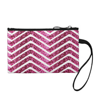 Monedero Mirada reluciente brillante rosada Chevron Bling