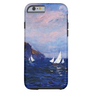 Monet-Acantilados y veleros de Claude en Pourville Funda Resistente iPhone 6