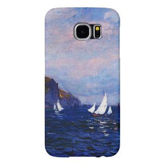 Monet-Acantilados y veleros de Claude en Pourville Funda Samsung Galaxy S6