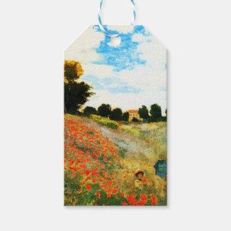 Monet-Amapolas de Claude en Argenteuil Etiquetas Para Regalos