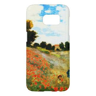 Monet-Amapolas de Claude en Argenteuil Funda Samsung Galaxy S7