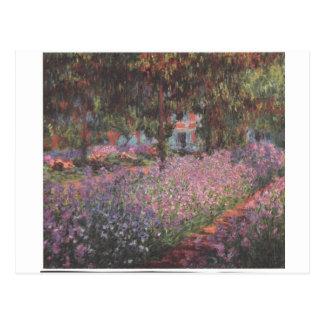 Monet florece arte de las vides de Giverny del Postal