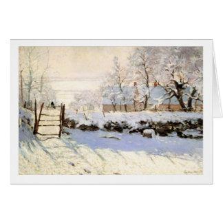 Monet la tarjeta de felicitación de la urraca