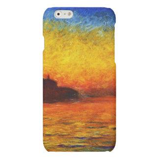 Monet-Puesta del sol de Claude en Venecia