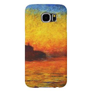 Monet-Puesta del sol de Claude en Venecia Funda Samsung Galaxy S6