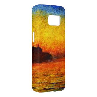 Monet-Puesta del sol de Claude en Venecia Funda Samsung Galaxy S7