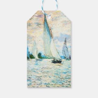 Monet-Regatta de Claude en Argenteuil Etiquetas Para Regalos
