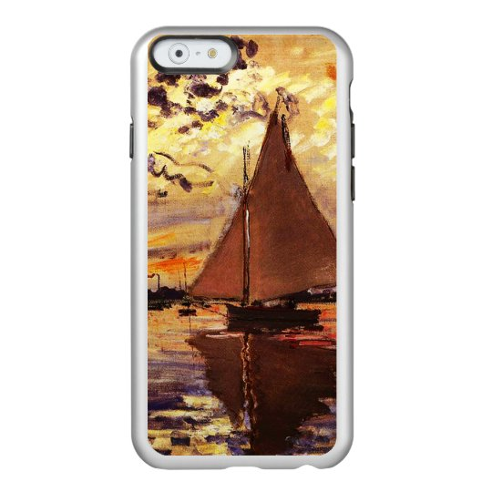Monet-Velero de Claude en Le Pequeno-Gennevilliers Funda Para iPhone 6 Plus Incipio Feather Shine