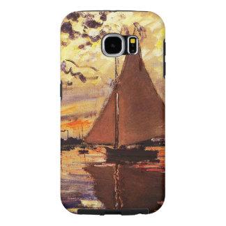 Monet-Velero de Claude en Le Pequeno-Gennevilliers Funda Samsung Galaxy S6