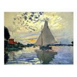 Monet - velero en Le Pequeno-Gennevilliers Postal