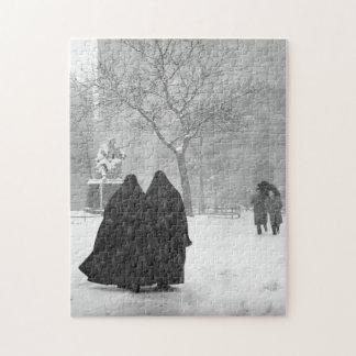Monjas en nieve puzzle