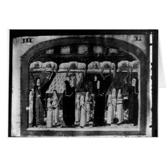 Monjas que tienden al enfermo en el hotel Dieu Felicitacion