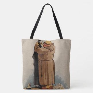 Monje que besa a la monja, la bolsa de asas