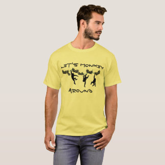 Monkey alrededor camiseta